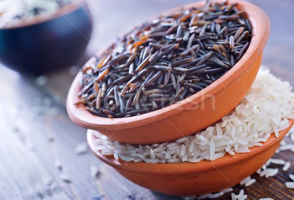 сырой риса чаши таблице здоровья группа Сток-фото © tycoon