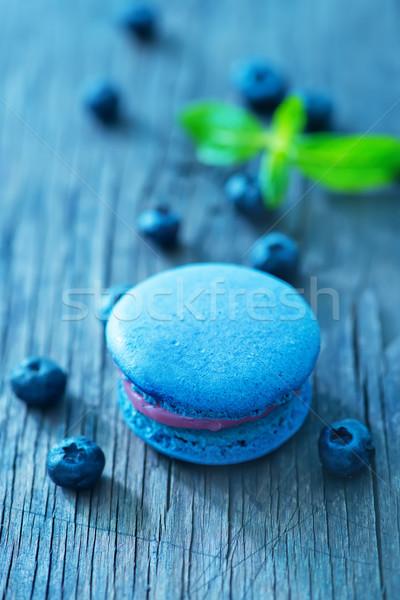 blueberry macaroon Stock photo © tycoon