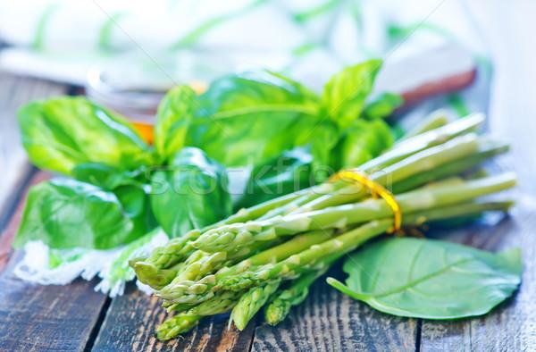 Asparagi aroma Spice tavola alimentare natura Foto d'archivio © tycoon