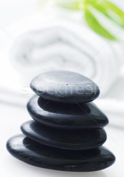 Basalt Wasser Blatt Schönheit Gruppe Massage Stock foto © tycoon