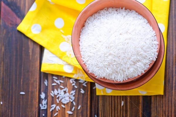 Сток-фото: риса · чаши · таблице · продовольствие · фон · обеда