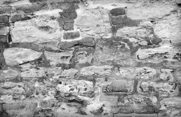 Vieux mur de briques fissuré stuc couche maison Photo stock © tycoon