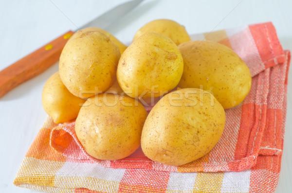 Crudo papa alimentos naturaleza color planta Foto stock © tycoon
