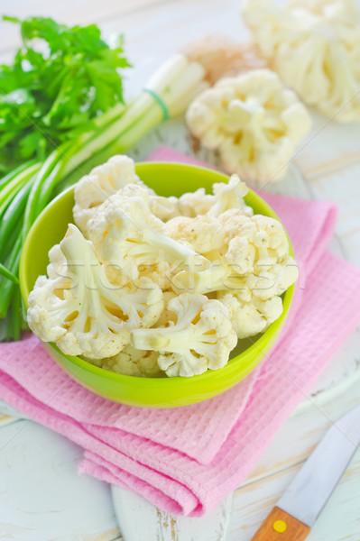 Karfiol egészség konyha zöld szín fej Stock fotó © tycoon