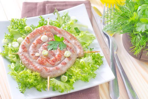 Stock photo: sausages