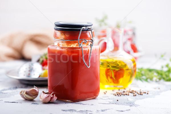 Salsa de tomate sal especias alimentos frutas Foto stock © tycoon