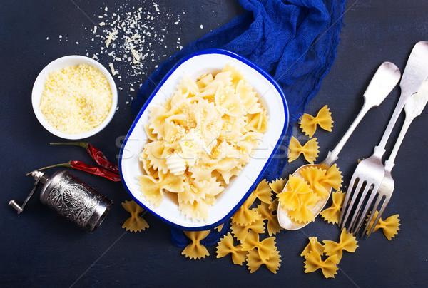 Stock fotó: Tészta · sajt · tál · kék · búza · főzés