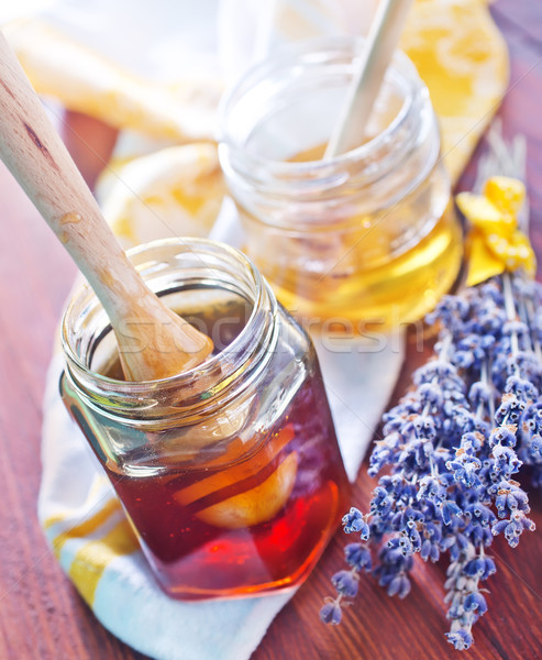 Miele legno salute sfondo piatto colore Foto d'archivio © tycoon