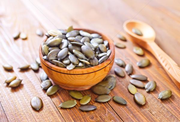 Kabak Çekirdeği gıda meyve tarım diyet nesneler Stok fotoğraf © tycoon