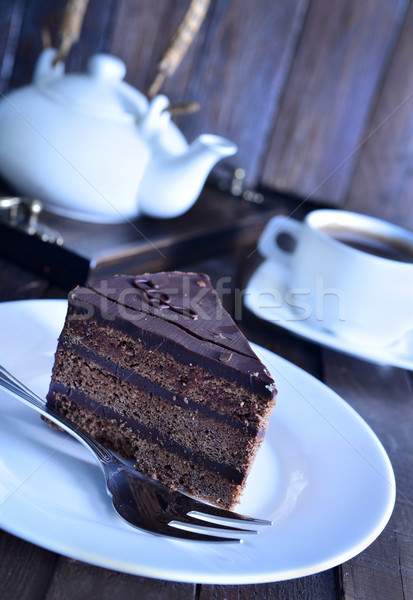 chocolate plate Stock photo © tycoon