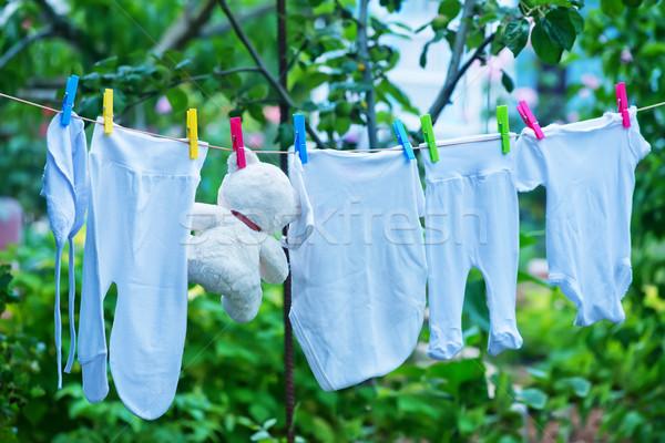 Baby kleding opknoping lijn tuin voorjaar Stockfoto © tycoon