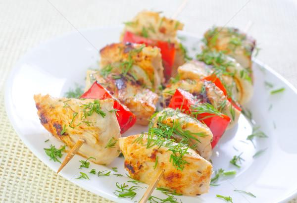 Quibe fundo cozinha verde frango jantar Foto stock © tycoon