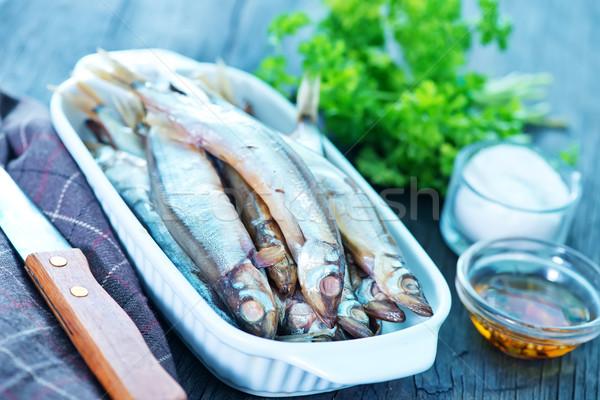 Füstölt hal fűszer asztal csoport reggeli Stock fotó © tycoon