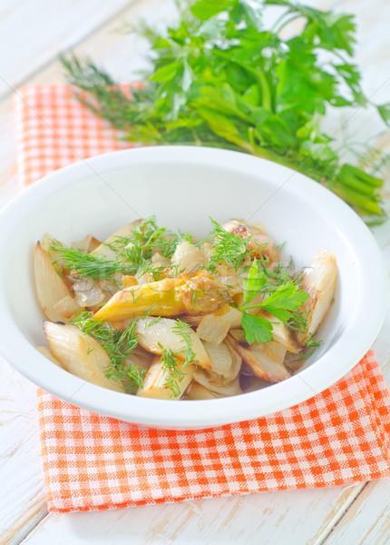 Asparagi alimentare verde cena colore forcella Foto d'archivio © tycoon