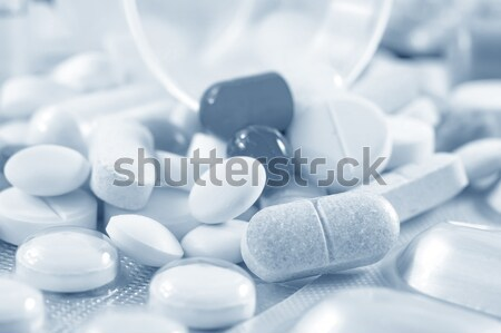 color pills and tablet, the medical means Stock photo © tycoon