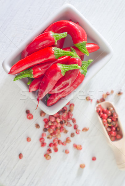 Chili fa űr zöld főzés forró Stock fotó © tycoon