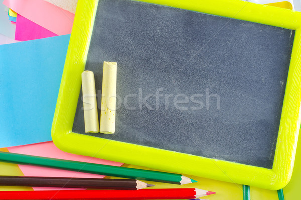 Tanszerek textúra osztályterem szín osztály fehér Stock fotó © tycoon