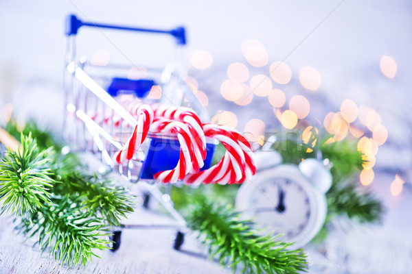 Christmas decoratie snoep gelukkig achtergrond groene Stockfoto © tycoon