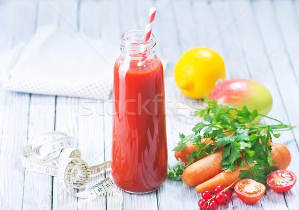 ジュース 果物 野菜 ボトル リンゴ ガラス ストックフォト © tycoon