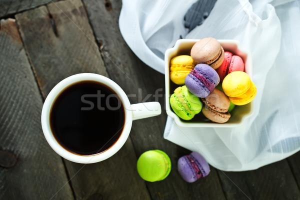 Renk çanak tablo çikolata kek yeşil Stok fotoğraf © tycoon