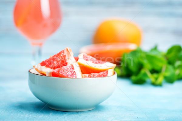 грейпфрут сока свежие таблице фрукты здоровья Сток-фото © tycoon