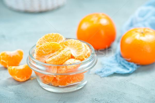 Frescos tazón mesa fondo naranja espacio Foto stock © tycoon