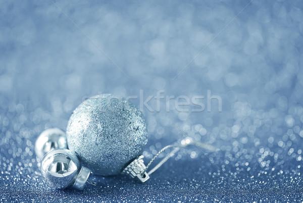 Foto stock: Natal · decoração · tabela · relógio · doce · dom