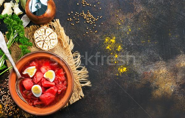 beet soup Stock photo © tycoon