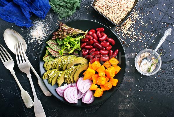 Diyet gıda sağlıklı sebze Buda çanak Stok fotoğraf © tycoon