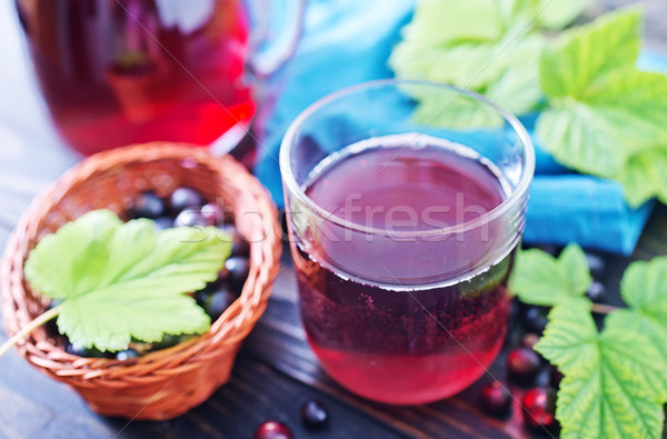 Noir groseille jus verre table alimentaire Photo stock © tycoon