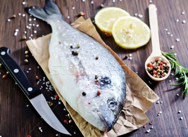 Ruw vis voedsel natuur zee achtergrond Stockfoto © tycoon