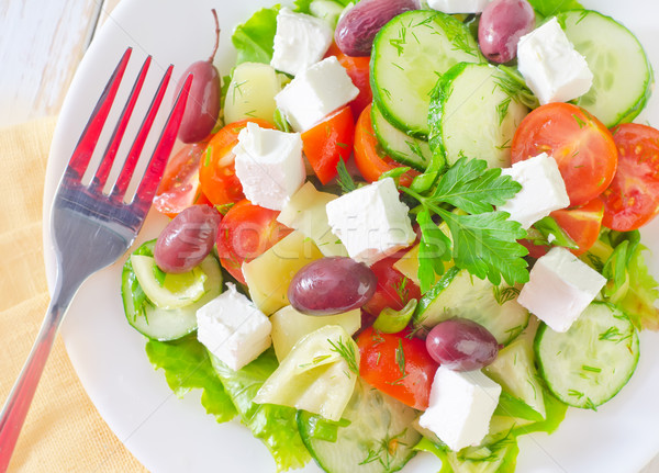 греческий Салат сыра обеда жизни вилка Сток-фото © tycoon