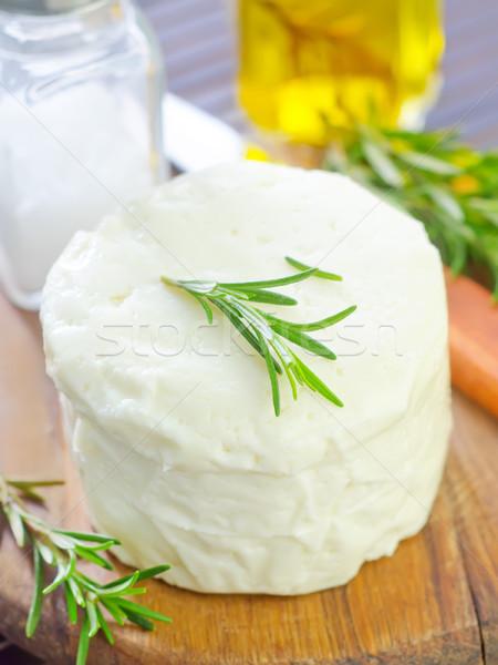 Peynir tablo bıçak beyaz pişirme taze Stok fotoğraf © tycoon