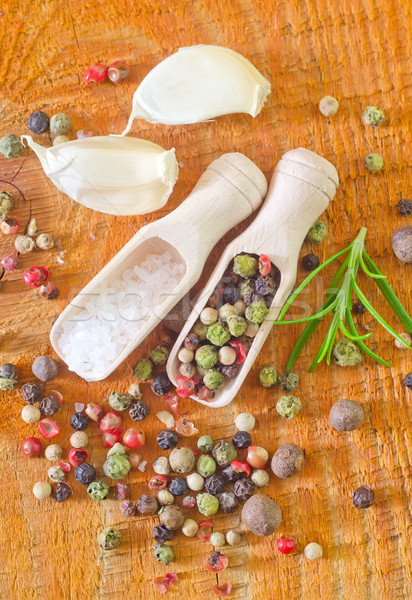 Peperoni sale salute rosso impianto bianco Foto d'archivio © tycoon