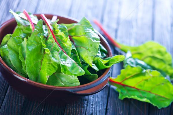 mangold leaf Stock photo © tycoon