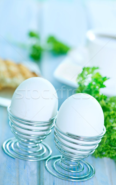 卵 朝食 表 背景 パン ストックフォト © tycoon