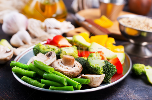 Hortalizas setas crudo mesa cocina verano Foto stock © tycoon
