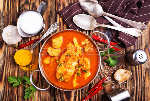 Stock photo: chicken curry