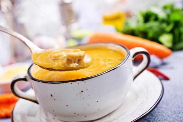 Sárgarépa leves tál diéta étel friss Stock fotó © tycoon
