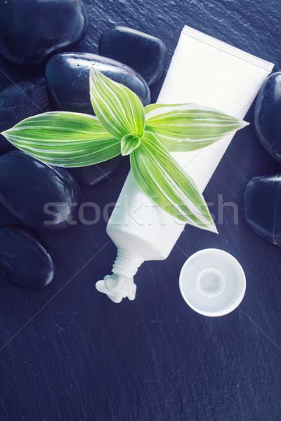 Room lichaam gezicht buis water gezondheid Stockfoto © tycoon