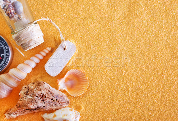 shells and sand Stock photo © tycoon