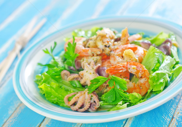salad with seafood Stock photo © tycoon