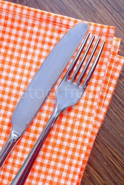 フォーク ナイフ 食品 デザイン キッチン グループ ストックフォト © tycoon