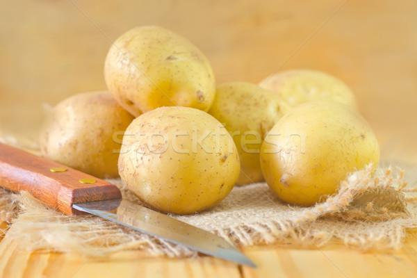 Brut de pomme de terre alimentaire groupe dîner cuisson Photo stock © tycoon