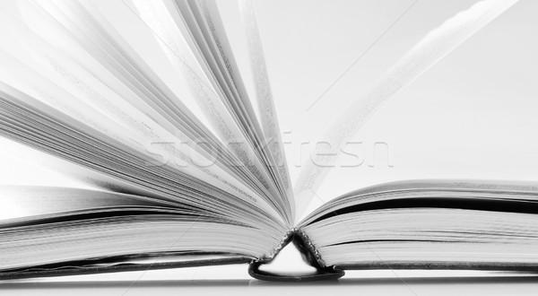 Open boek papier student achtergrond onderwijs studie Stockfoto © tycoon