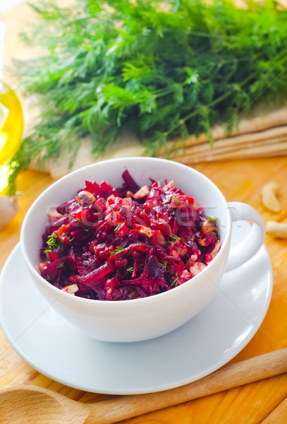 свежие Салат вегетарианский продовольствие листьев розовый Сток-фото © tycoon