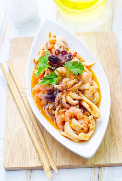 サラダ シーフード 魚 海 健康 ディナー ストックフォト © tycoon