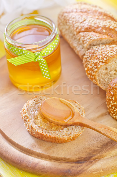 Honing brood oranje leven goud drop Stockfoto © tycoon