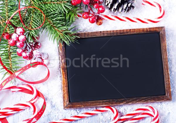 Noel dekorasyon beyaz ağaç gıda arka plan Stok fotoğraf © tycoon
