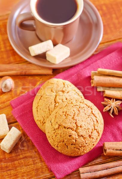 Photo stock: Cookies · café · chocolat · gâteau · boire · café